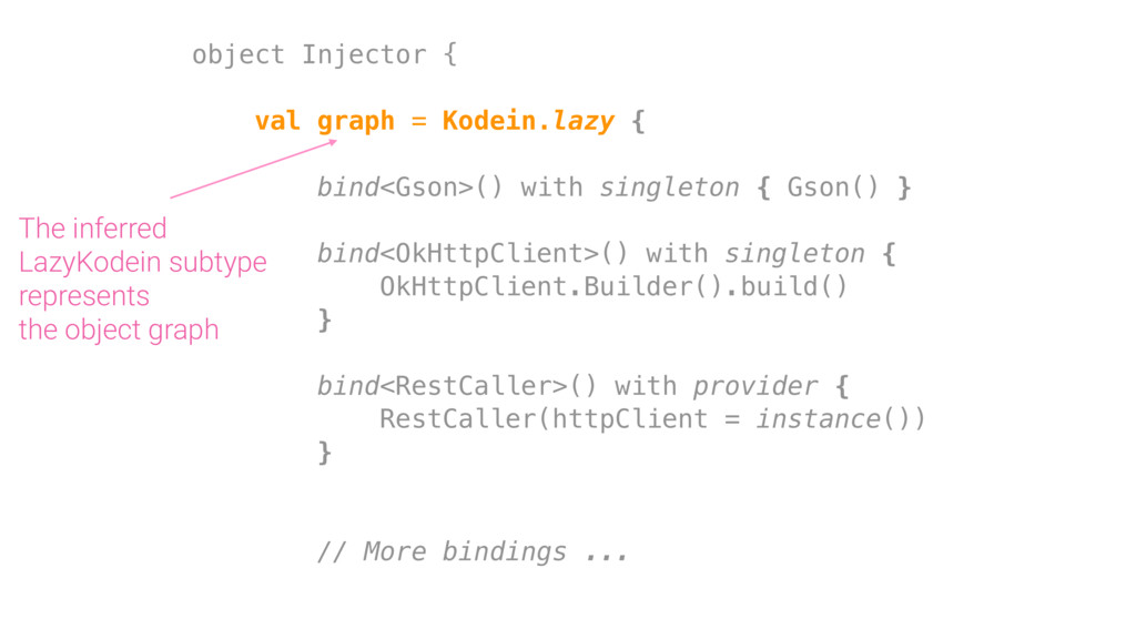 object Injector { val graph = Kodein.lazy { bin...