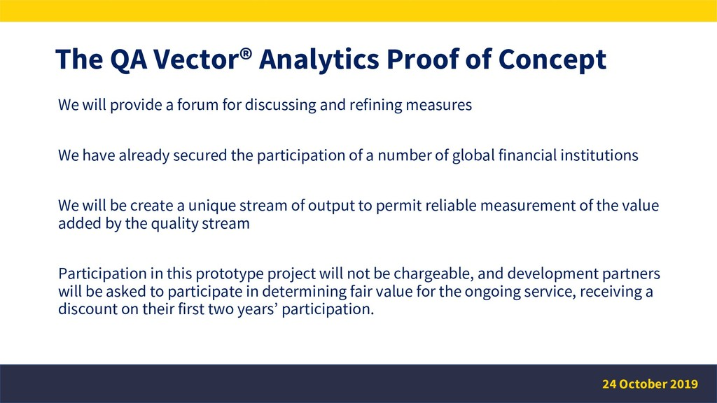 The QA Vector® Analytics Proof of Concept We wi...