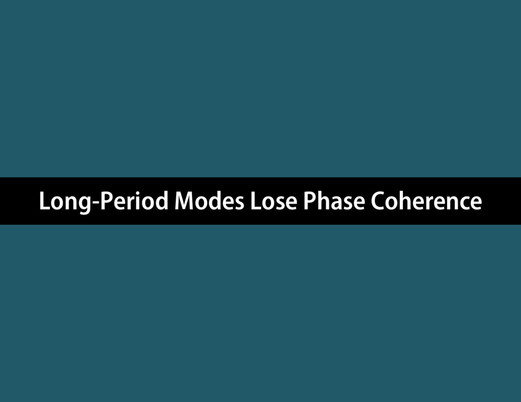 Long-Period Modes Lose Phase Coherence