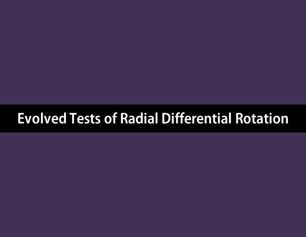Evolved Tests of Radial Differential Rotation