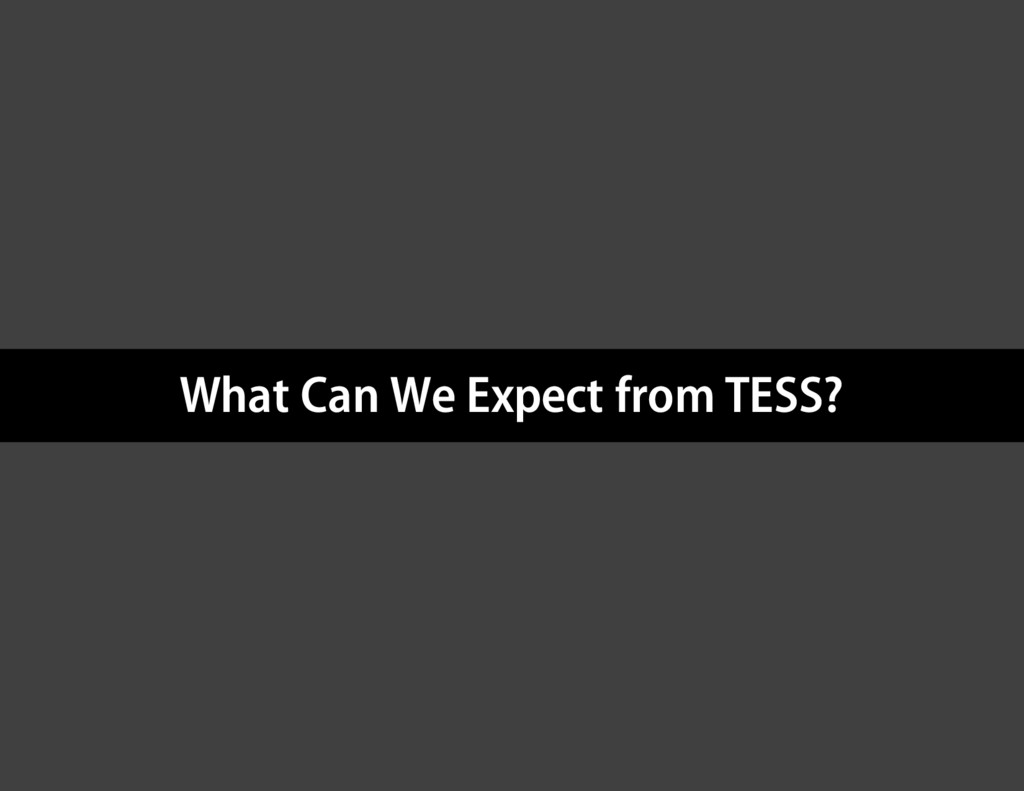 What Can We Expect from TESS?