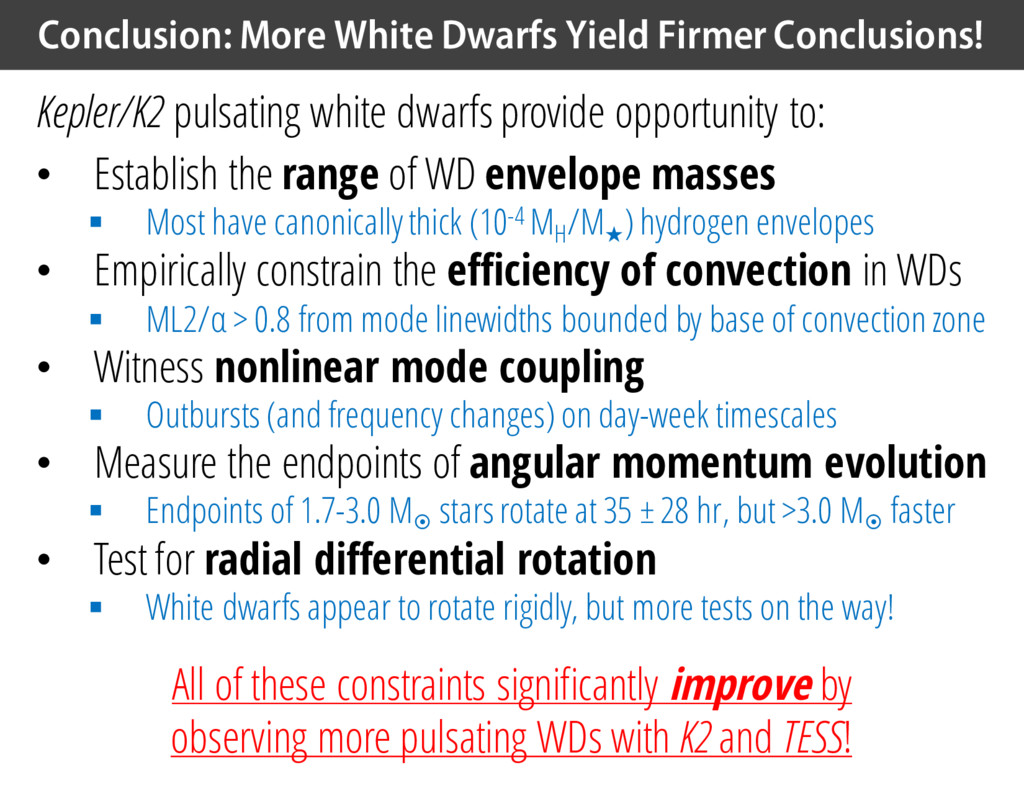 Conclusion: More White Dwarfs Yield Firmer Conc...