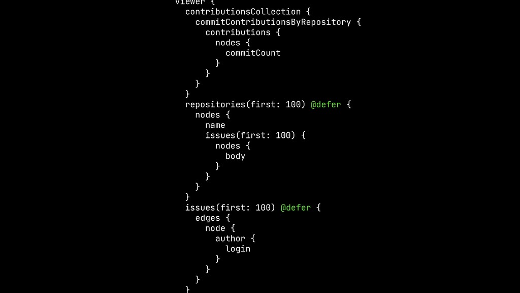 viewer {  contributionsCollection {  commitCont...