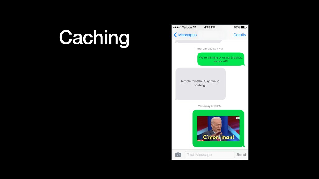 Caching We're thinking of using GraphQL  as our...
