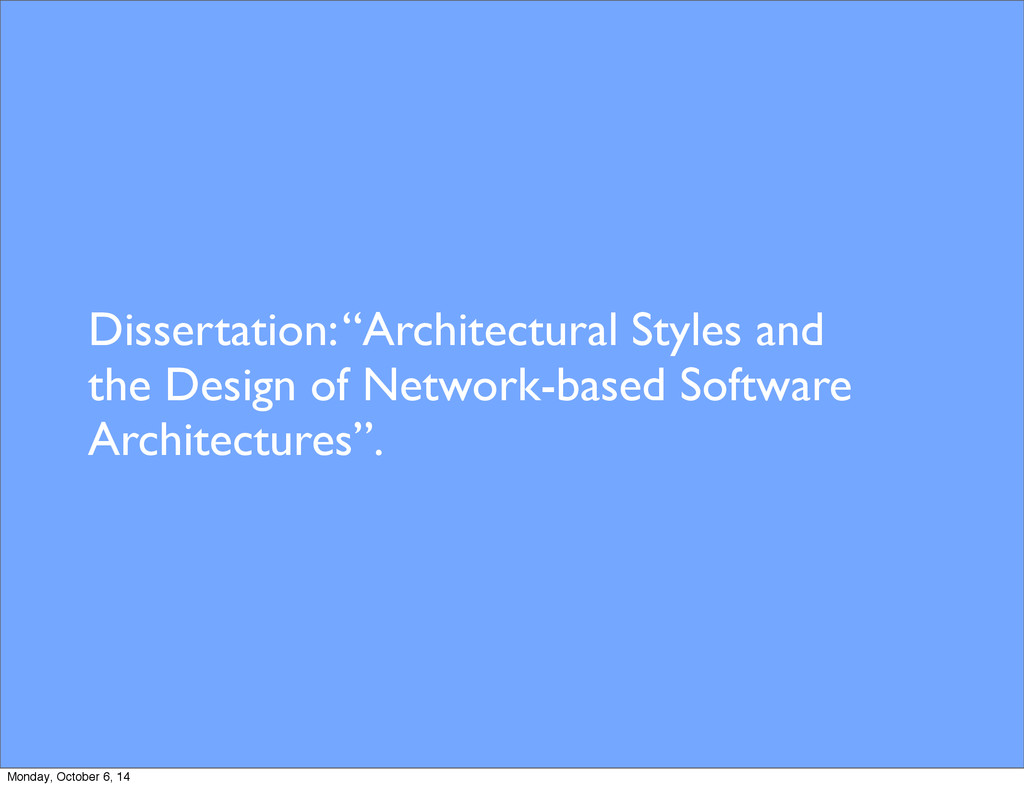 "Dissertation: ""Architectural Styles and the Des..."