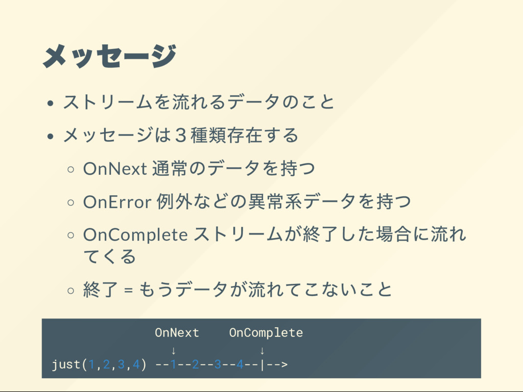 OnNext OnError OnComplete = OnNext OnComplete ↓...
