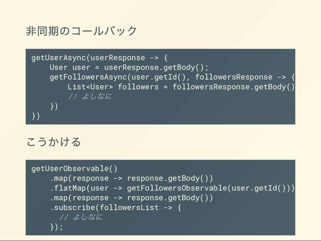 getUserObservable() .map(response -> response.g...