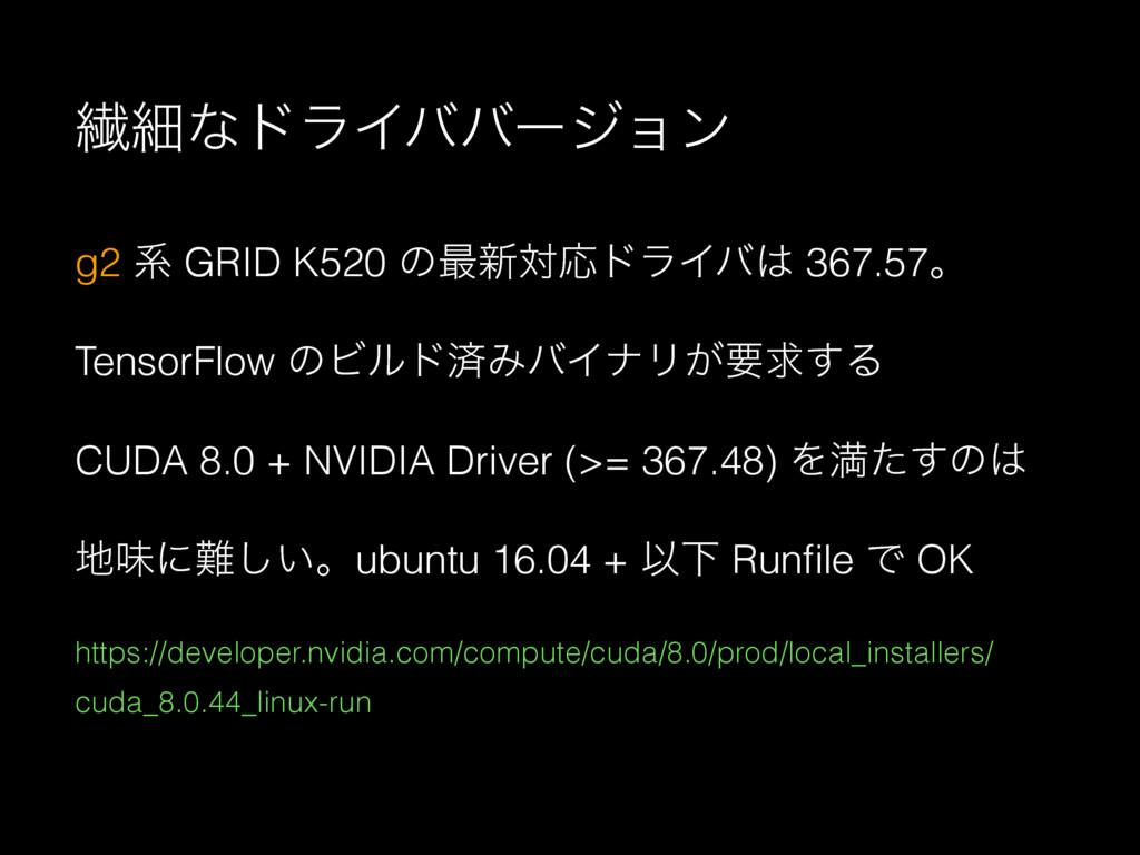 ણࡉͳυϥΠόόʔδϣϯ g2 ܥ GRID K520 ͷ࠷৽ରԠυϥΠό 367.57ɻ ...