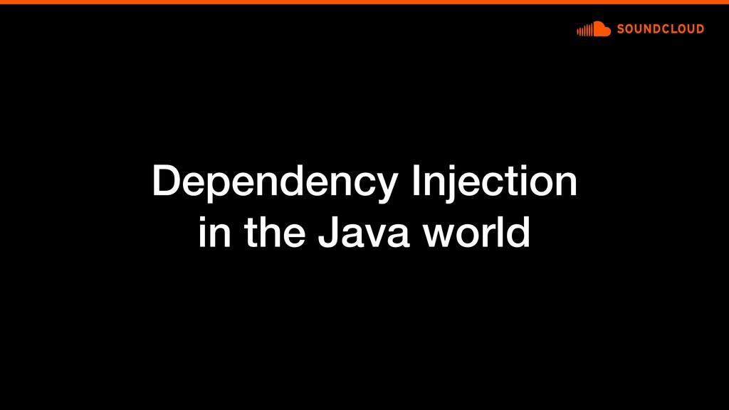 Dependency Injection in the Java world
