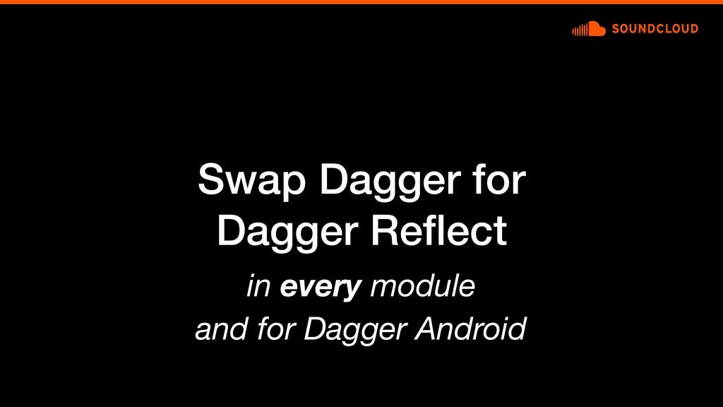 Swap Dagger for Dagger Reflect in every module a...