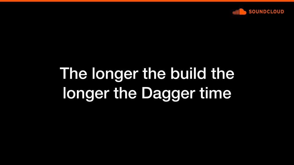 The longer the build the longer the Dagger time