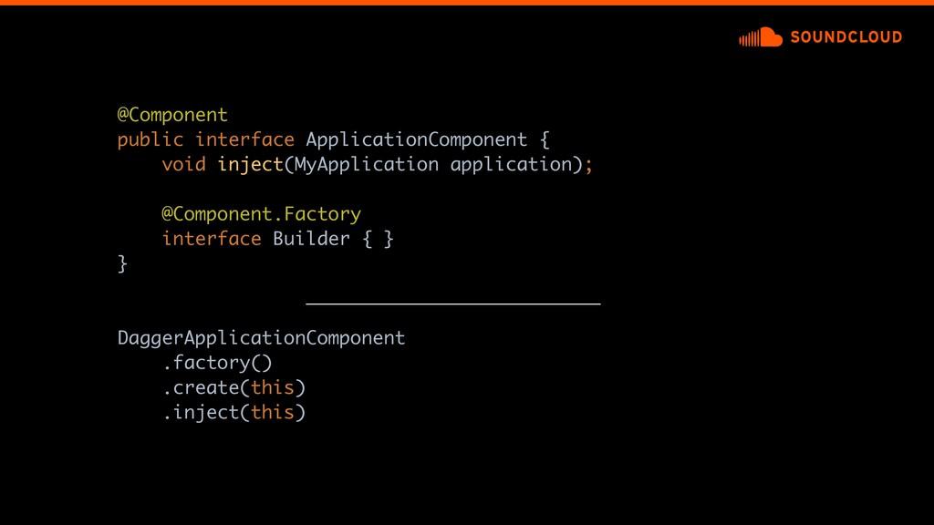 @Component public interface ApplicationComponen...
