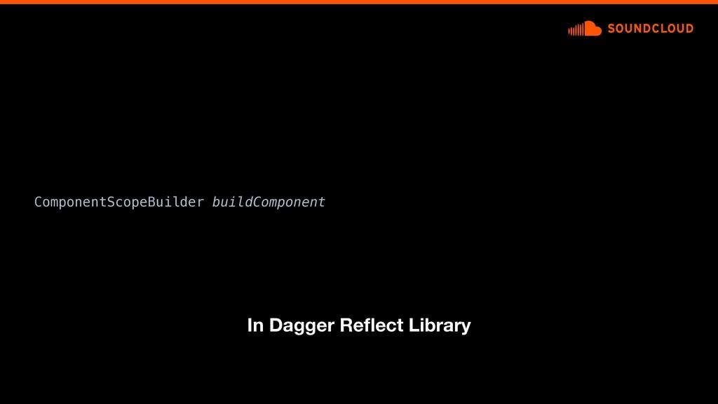 ComponentScopeBuilder buildComponent In Dagger ...