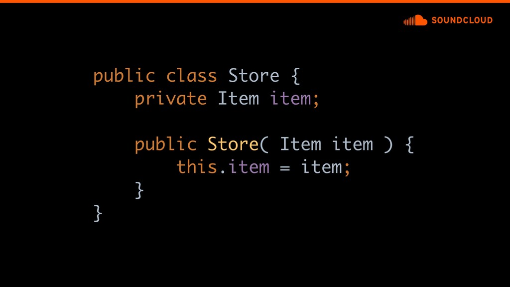 public class Store {a private Item item; public...