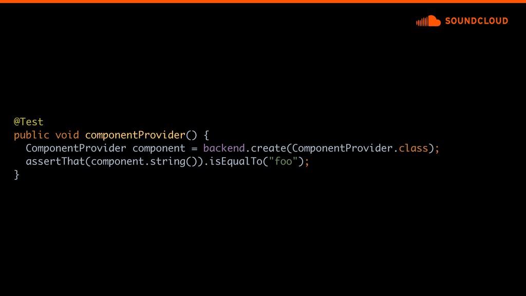 @Test public void componentProvider() {a Compon...