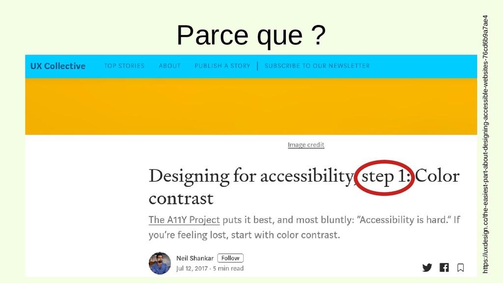 Parce que ? https://uxdesign.cc/the-easiest-par...