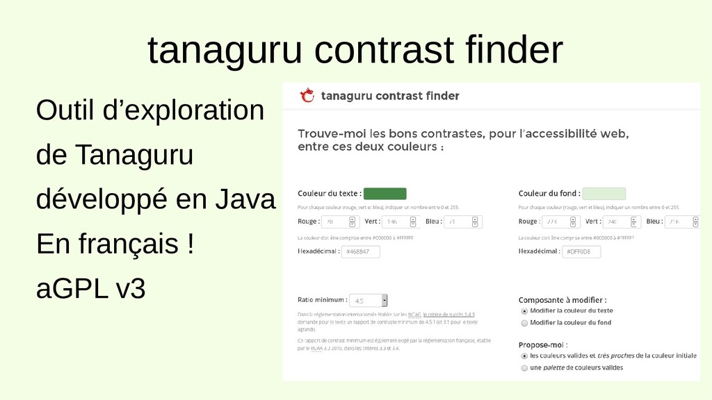 tanaguru contrast finder Outil d'exploration de...