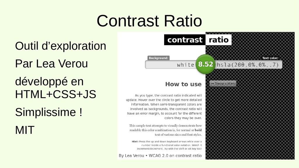 Contrast Ratio Outil d'exploration Par Lea Vero...
