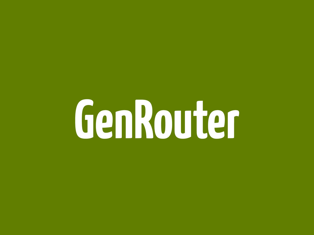 GenRouter