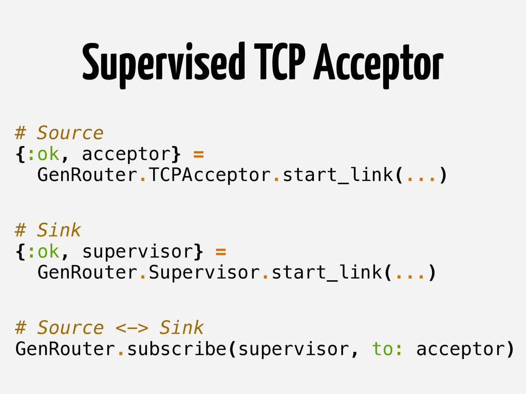 Supervised TCP Acceptor # Source {:ok, acceptor...