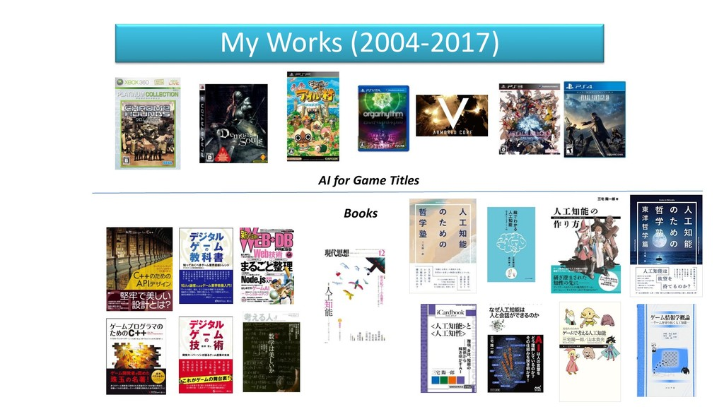 My Works (2004-2017) AI for Game Titles Books