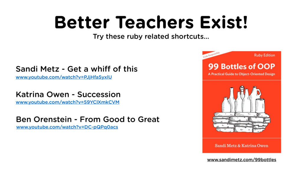 Better Teachers Exist! Try these ruby related s...