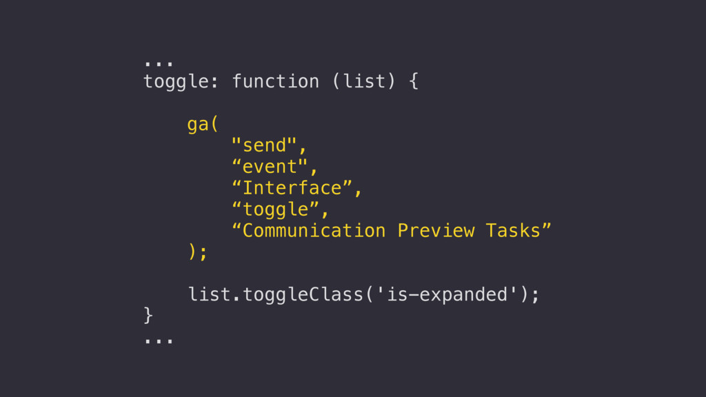 "... toggle: function (list) { ga( ""send"", ""even..."