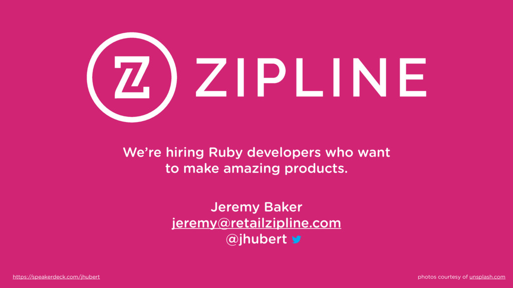We're hiring Ruby developers who want to make a...