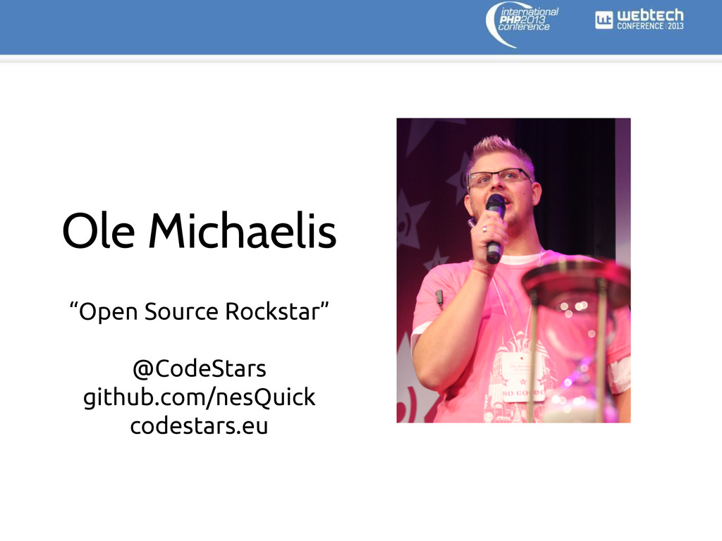 "Ole Michaelis ""Open Source Rockstar"" @CodeStars..."