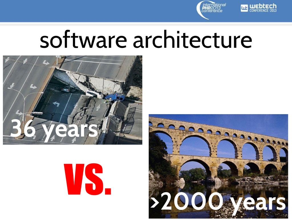 software architecture VS. 36 years >2000 years