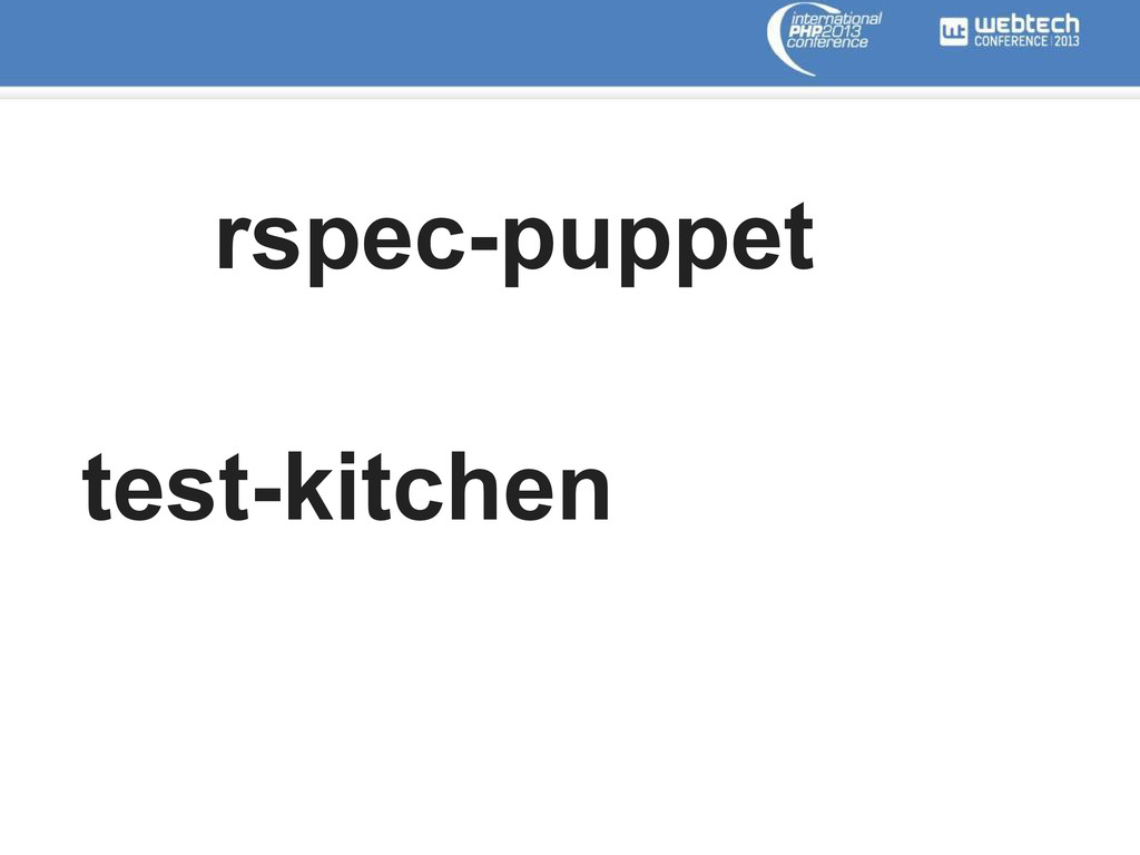 rspec-puppet test-kitchen