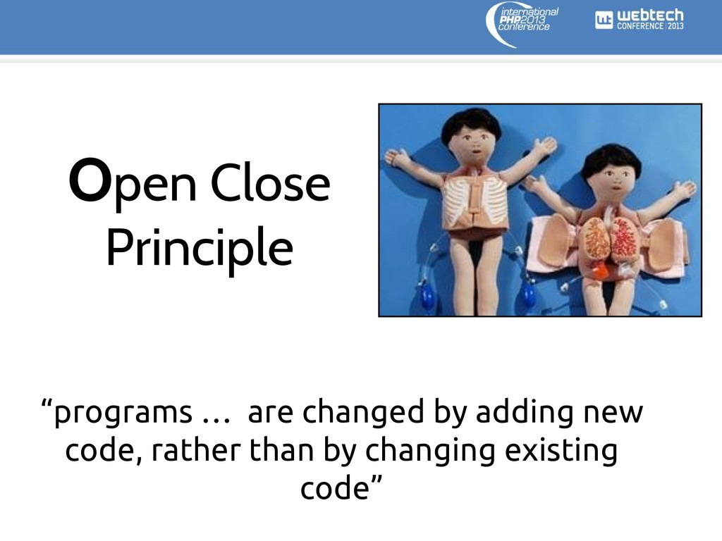 """programs … are changed by adding new code, rat..."