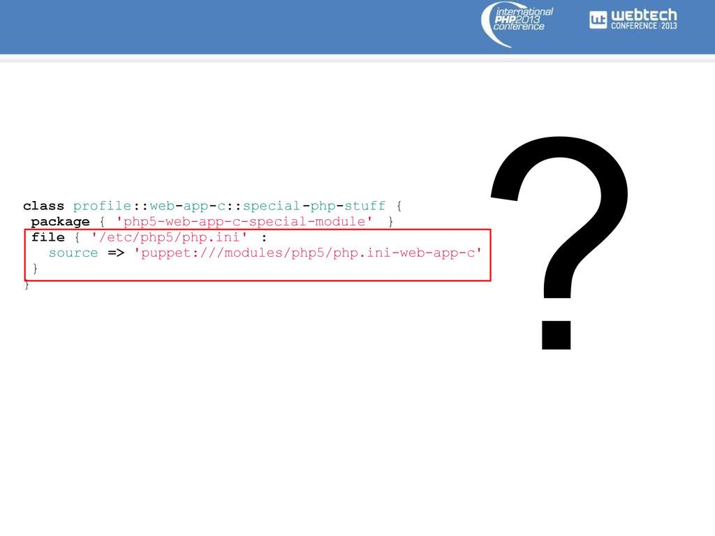 class profile::web-app-c::special-php-stuff { p...