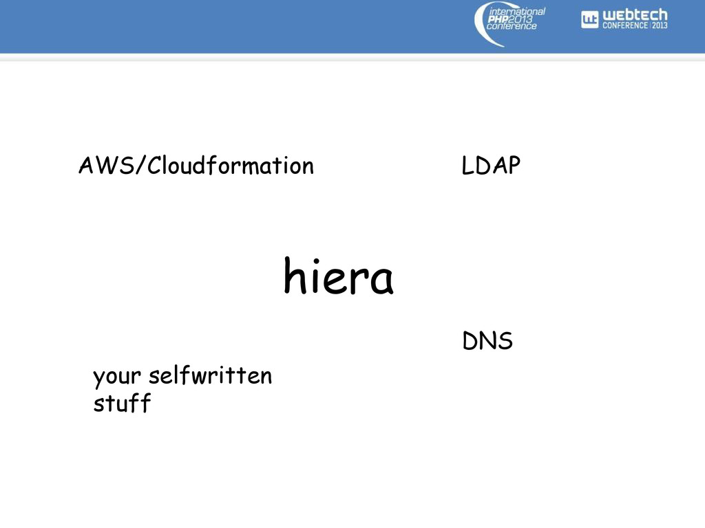 hiera AWS/Cloudformation LDAP DNS your selfwrit...