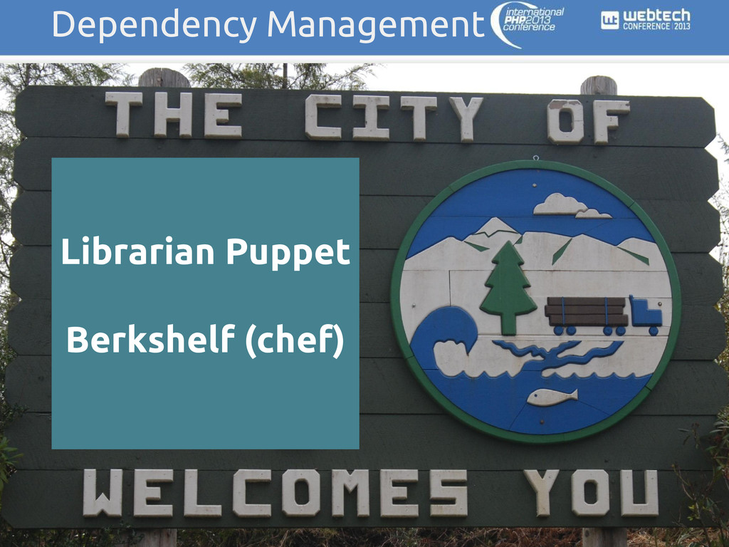 Dependency Management Librarian Puppet Berkshel...
