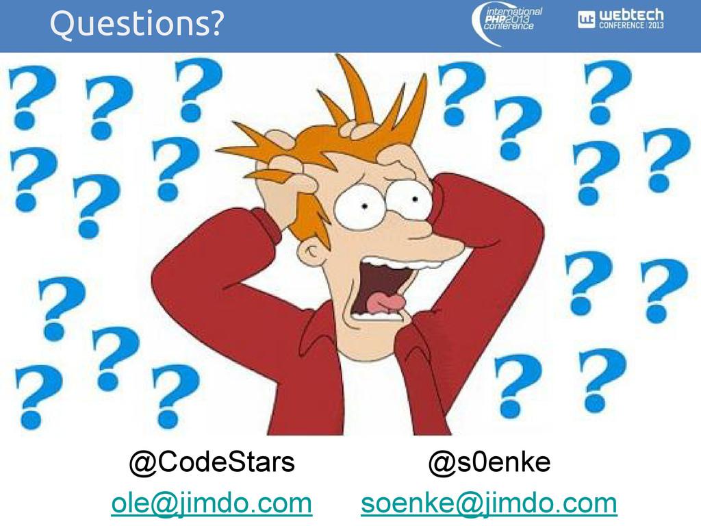 @CodeStars ole@jimdo.com @s0enke soenke@jimdo.c...