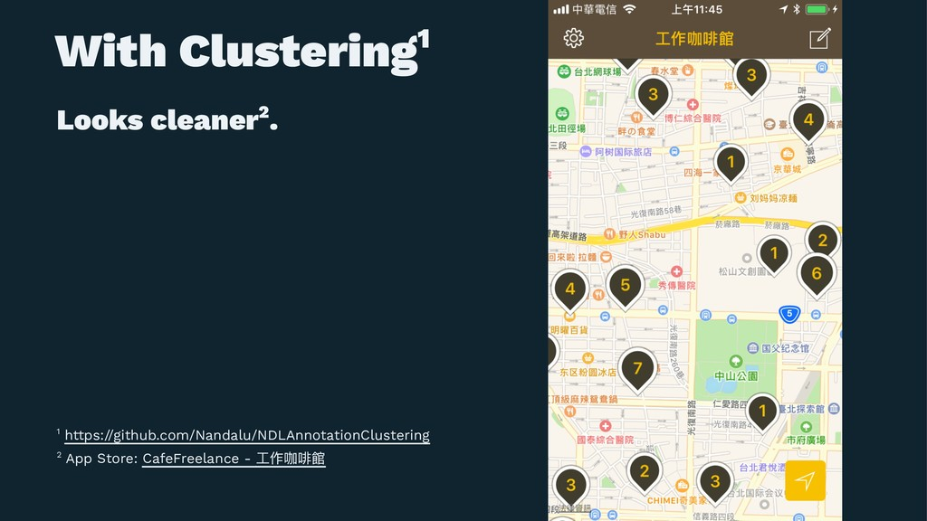 With Clustering1 Looks cleaner2. 2 App Store: C...