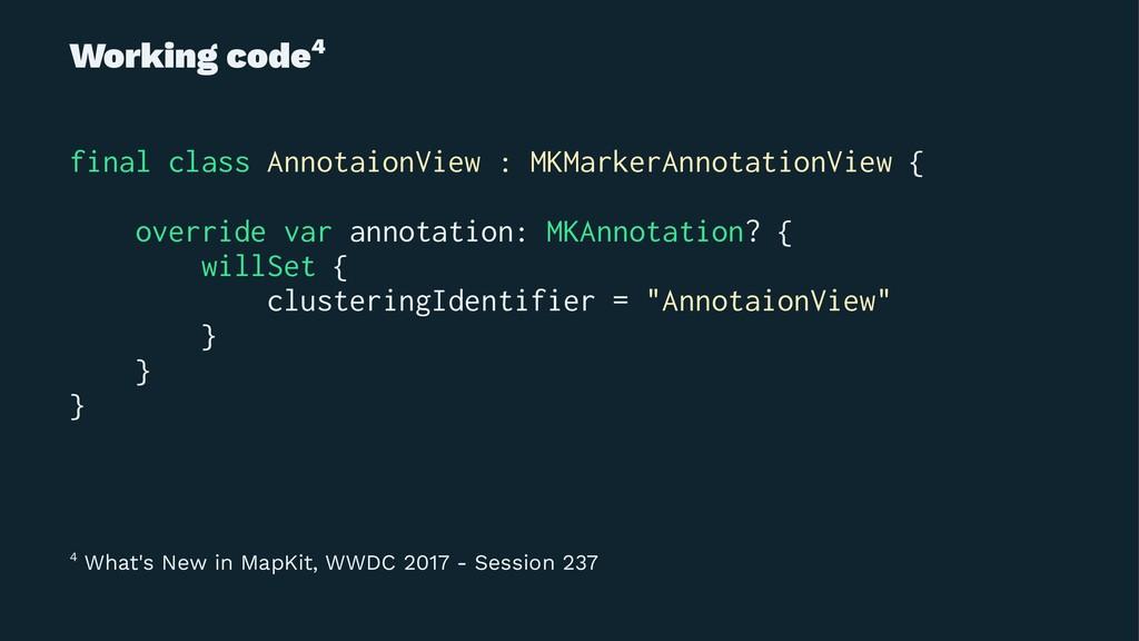 Working code4 final class AnnotaionView : MKMar...