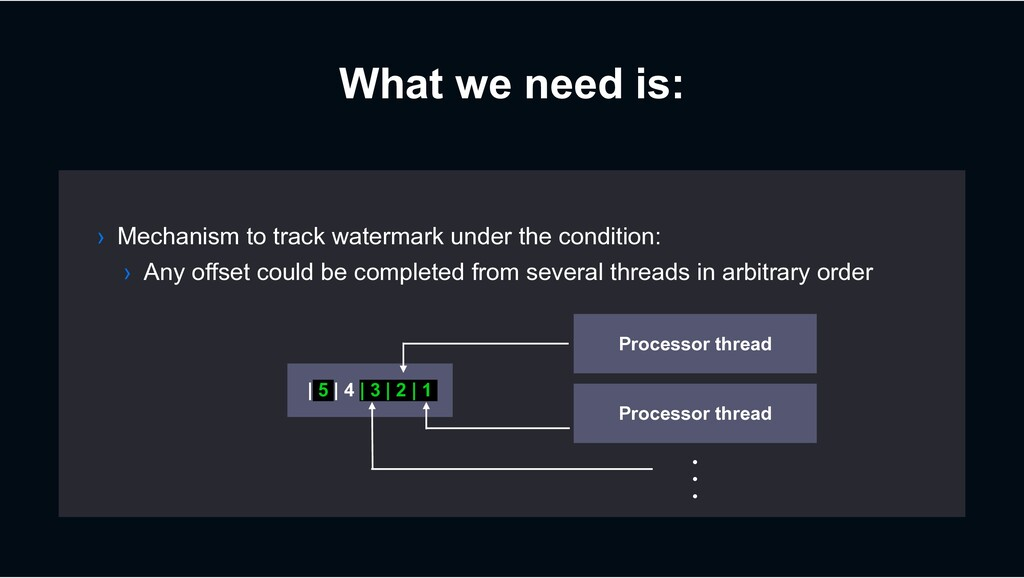 What we need is: › Mechanism to track watermark...
