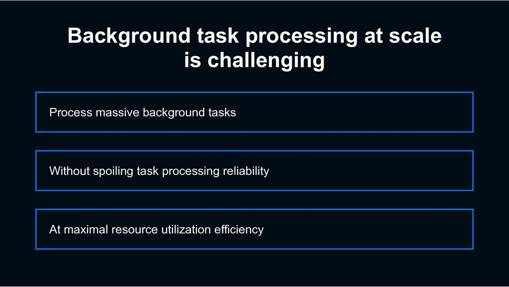 Process massive background tasks At maximal res...