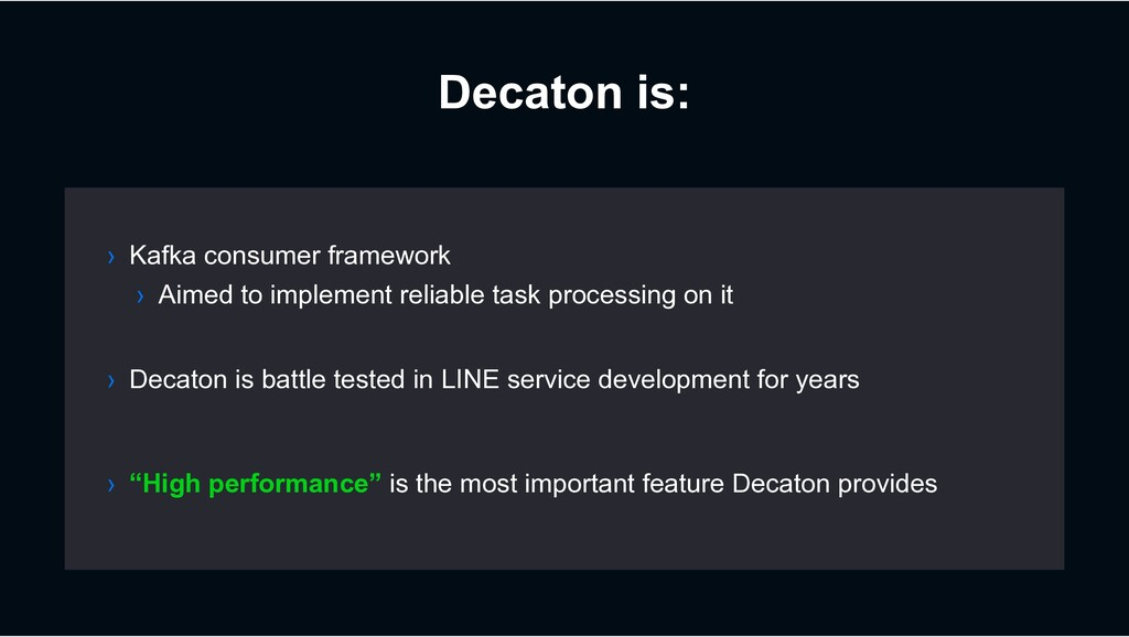Decaton is: › Decaton is battle tested in LINE ...