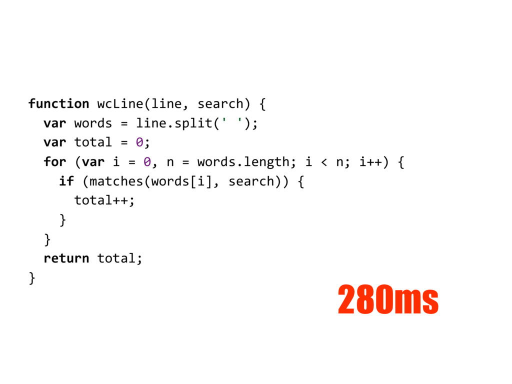 function wcLine(line, search) { var words = lin...