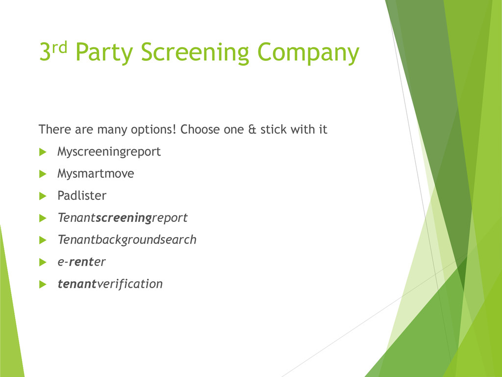 3rd Party Screening Company There are many opti...