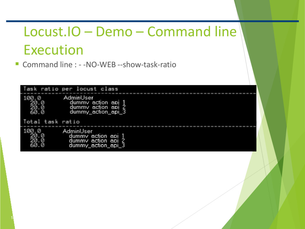 18 Confidential Locust.IO – Demo – Command line...