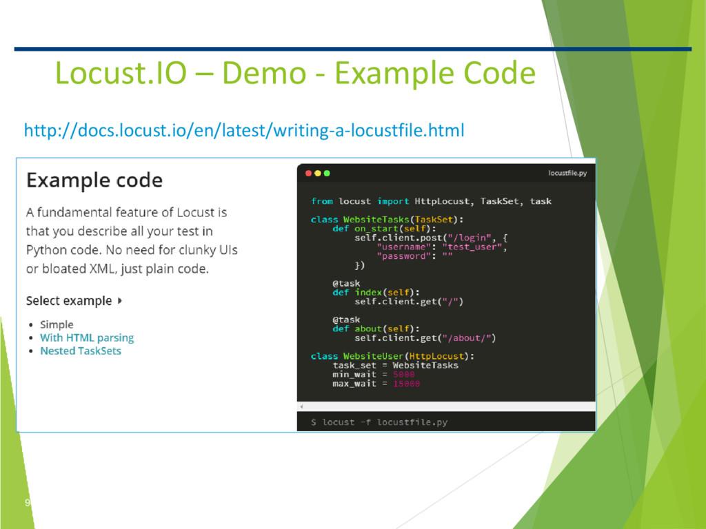 9 Confidential Locust.IO – Demo - Example Code ...