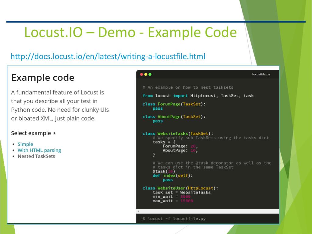 10 Confidential Locust.IO – Demo - Example Code...