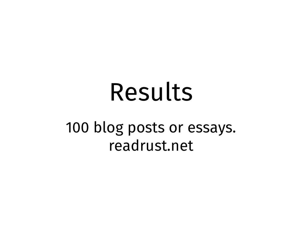Results 100 blog posts or essays. readrust.net