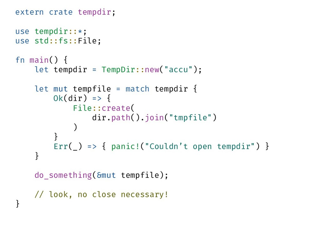 extern crate tempdir; use tempdir::*; use std::...