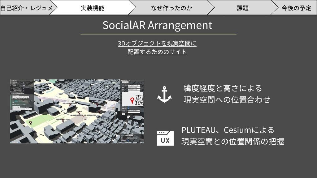 SocialAR Arrangement 3Dオブジェクトを現実空間に  配置するためのサイト...