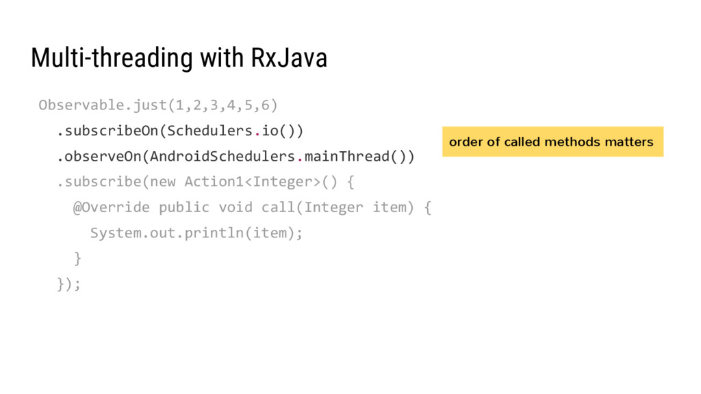 Multi-threading with RxJava Observable.just(1,2...